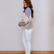 She & Sky Color Blocked Light Sweater