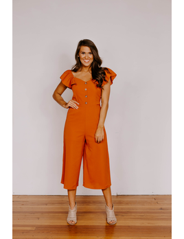 She & Sky Culotte Jumpsuit with Waist Sash