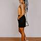 She & Sky Mini Skirt with Elastic Waist