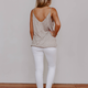 Spaghetti Strap Twisted Hem Cami Top