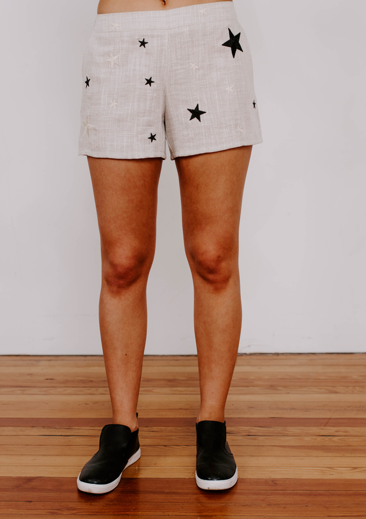 THML Embroidered Star Shorts