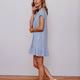 Karlie Heathered Ruffle Bottom Dress