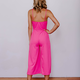 Karlie Solid Ruffle Cropped Jumpsuit