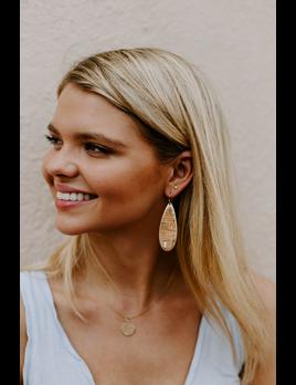 Teardrop Cork Earrings