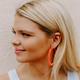 Crystal Cluster Hoop Earrings