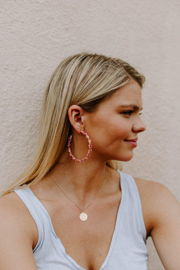 Wrapped Beaded Hoops