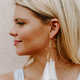 Textured Star Tassel Earrings
