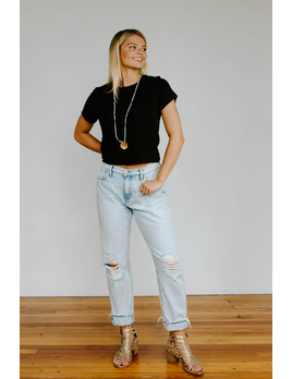 Hudson Jessi Relaxed Cropped Boyfriend Jean in Save Tonight