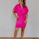 Karlie Solid Twist Front Dress