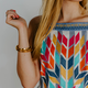 THML Embroidered Stripe Dress