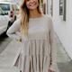 Elisa Ruffled Baby Doll Tunic Top