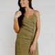 Karlie Linen Button Cami Dress