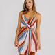 Karlie Stripe Wrap Cami Dress
