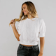 Lace Puff Sleeve Crop Top