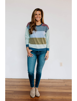 Z Supply The Bold Stripe Long Sleeve Sweater