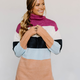 Color Blocked Turtleneck Sweater