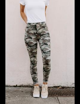 Hudson Barbara High-Rise Super Skinny Ankle Jean in Worn Camo