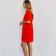 Karlie Solid V-Neck Dress