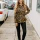 Karlie Leopard Pocket Long Sleeve Top