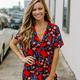 Karlie Mod Floral V-Neck Tunic