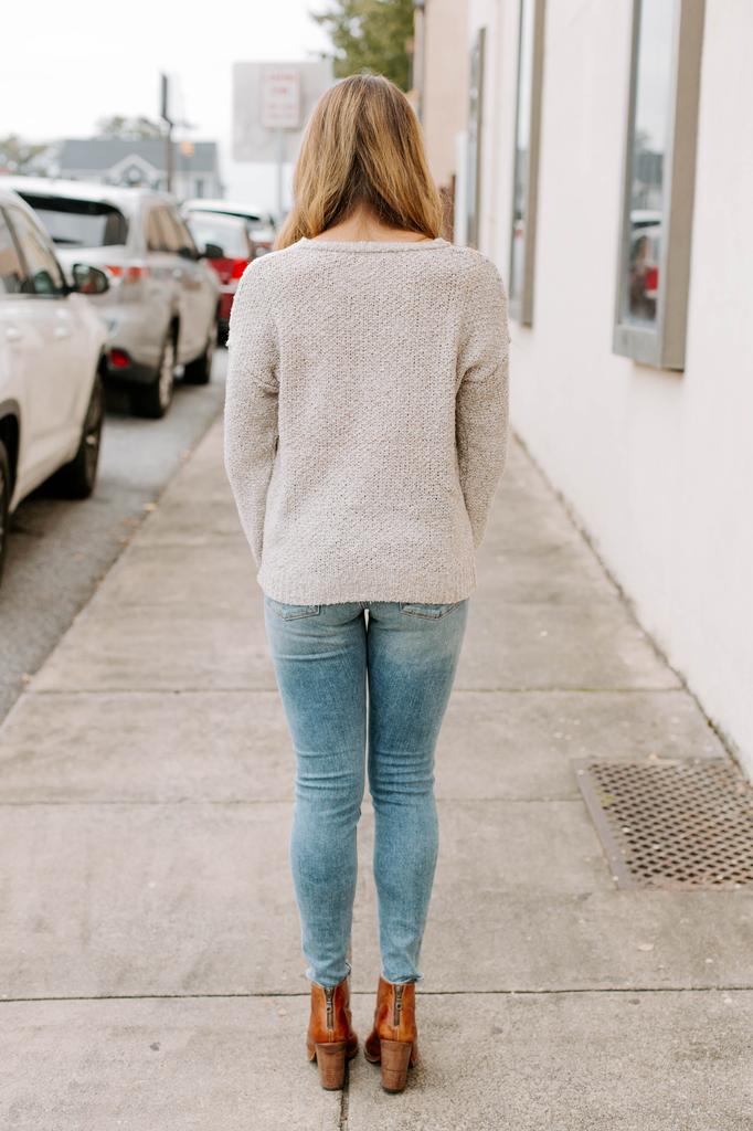 Blu Pepper Pom Detail Sweater