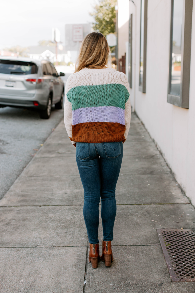 Striped Accent Sweater