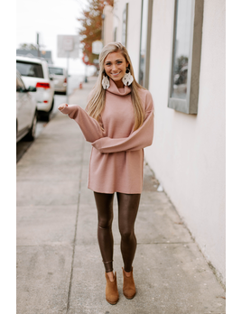 By Together Turtleneck Tunic Sweater