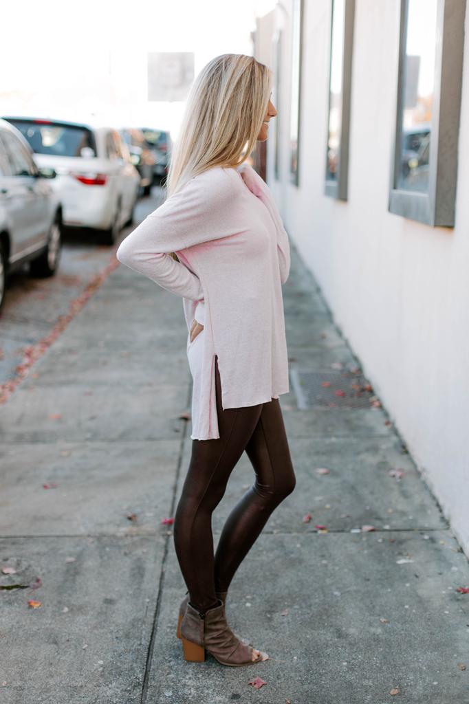 Z Supply The Marled Sweater Knit V-Neck Tunic