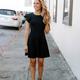 She & Sky Flounce Sleeve Skater Dress