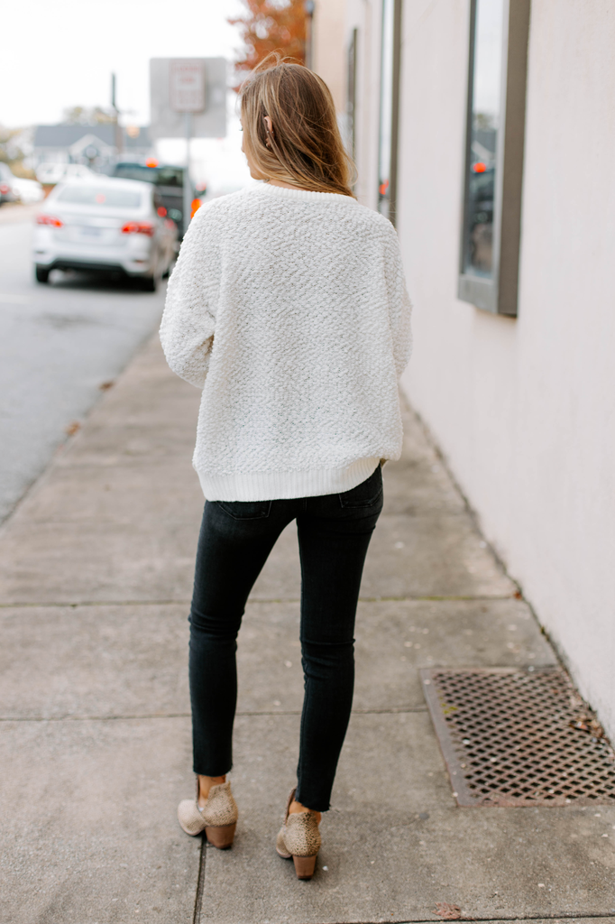 She & Sky Fuzzy Knit Pullover Sweater