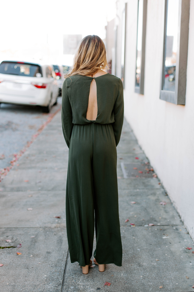 She & Sky Front Tie Wide Leg Jumpsuit