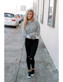 Z Supply The Brushed Leopard Pullover
