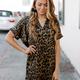 Karlie Leopard V-Neck Dress