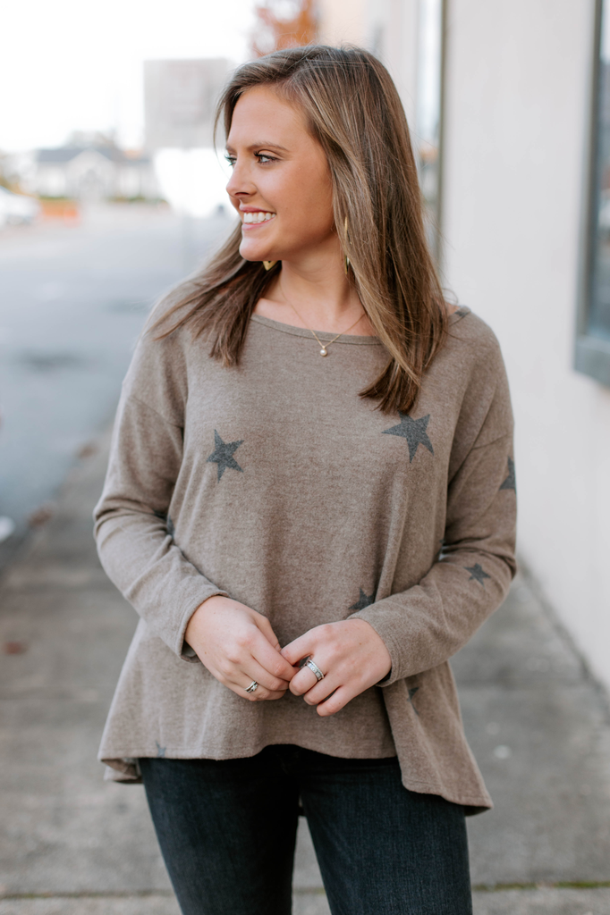 Karlie Star Fleece Scoop Top