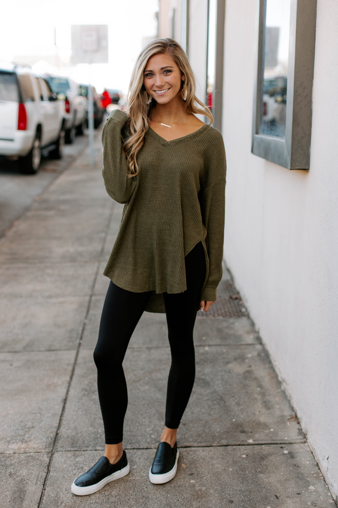 The Waffle Thermal Tunic Top