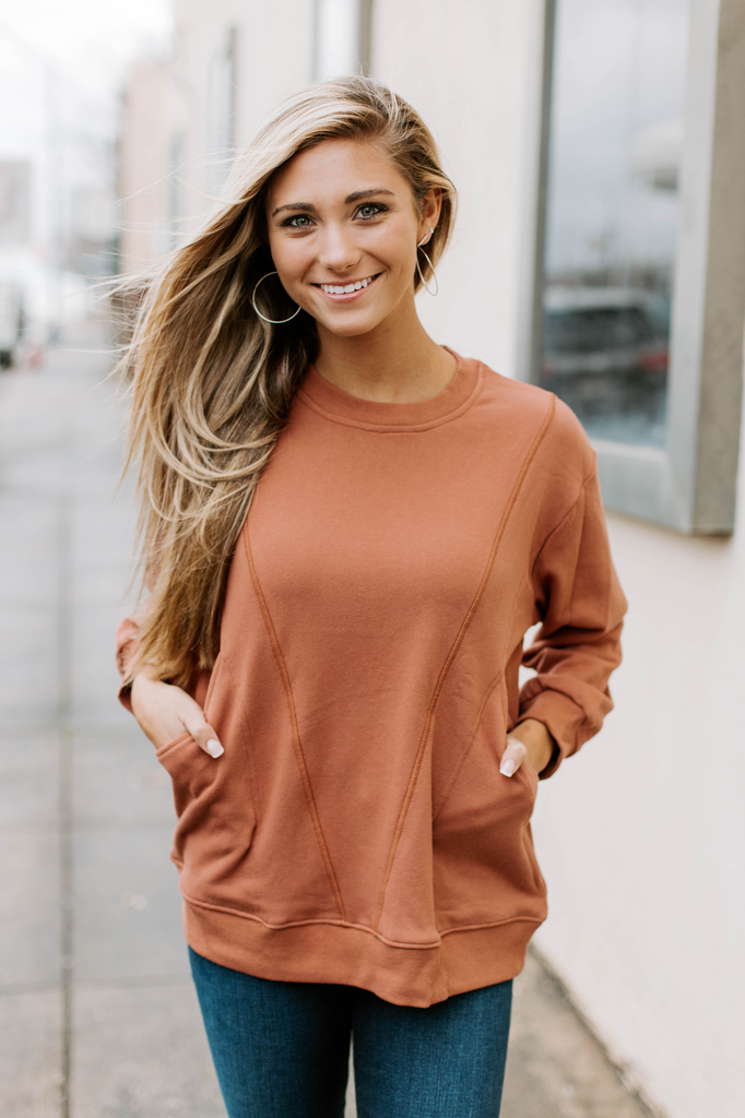 French Terry Top with Cut Details