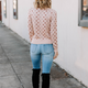 Skies Are Blue Polka Dot Sweater