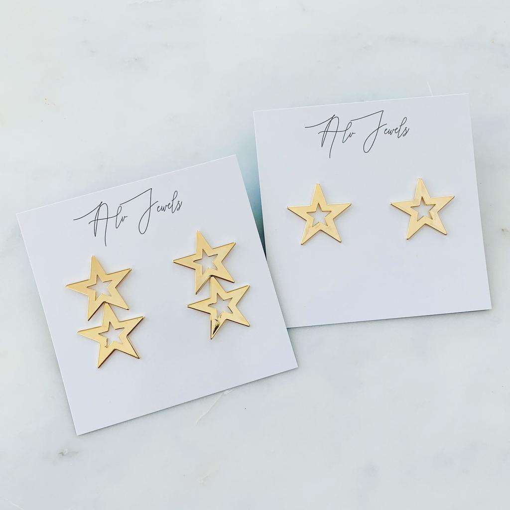 ALV Jewels Dallas Double Star Studs