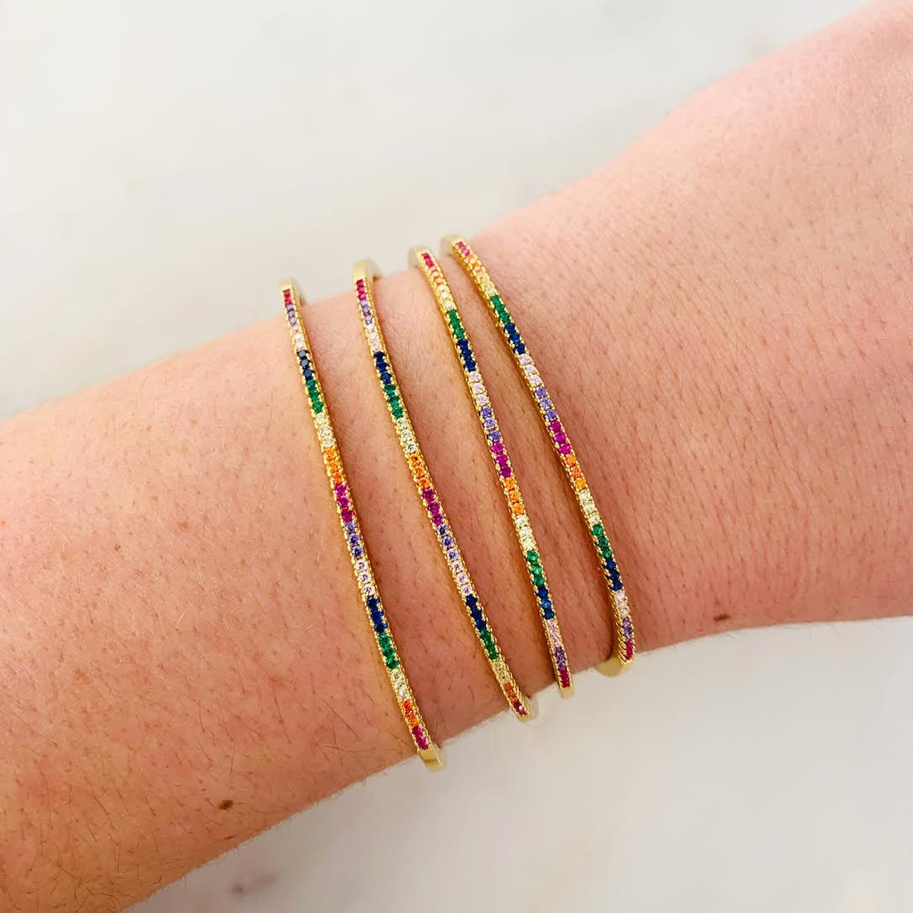 ALV Jewels Thin Rainbow Bracelet