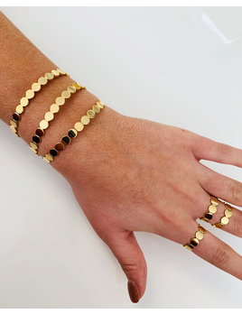 ALV Jewels Gold Dot Bracelet