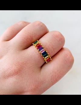 ALV Jewels Kristen Rainbow Ring