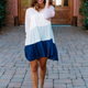 She & Sky Color Block Tiered Dress