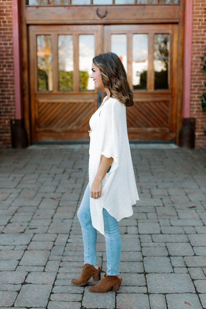 She & Sky Textured Knit Sweater Cardigan
