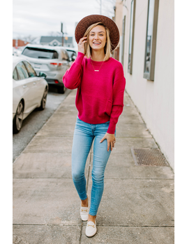 Dolman Drop Shoulder Sweater