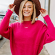 Dolman Drop Shoulder Sweater