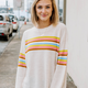 Multi Stripe Knit Sweater