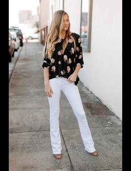 Karlie Floral Collar Top