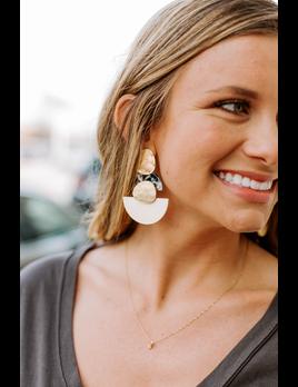 Acrylic Wedge Earrings