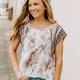 Ces Femme Tie Dye and Contrast Mix and Match Top
