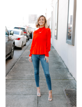 Karlie Solid Smock Long Sleeve Top